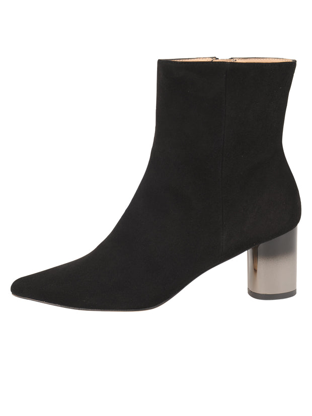 Womens Black Suede CIUDAD POINTED TOE BOOTIE 6