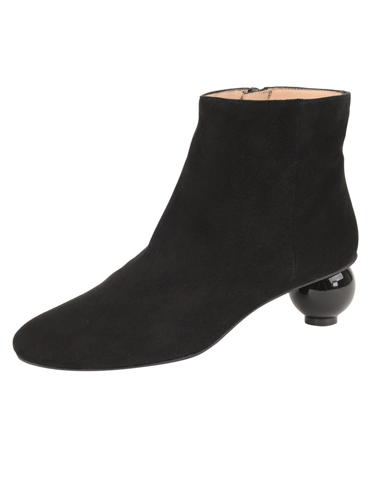 Womens Black Suede DENIA SUEDE BOOTIE