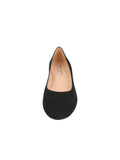 Womens Black Suede DINA LOW HEEL PUMP 4
