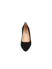 Womens Black Suede JASMINE Block Heel Pump 4