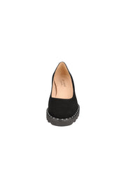 Womens Black Suede KATIE II LUG PUMP 4