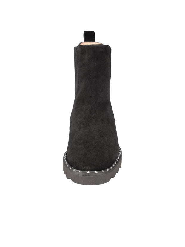Womens Black Suede KING II ELASTISIZED BOOTIE 4