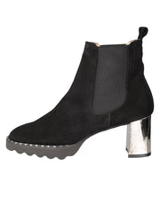 Womens Black Suede KING II ELASTISIZED BOOTIE 6