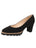 Womens Black Suede Katie Lug Pump