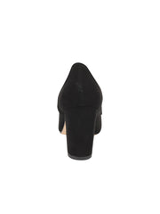 Womens Black Suede Pump 2
