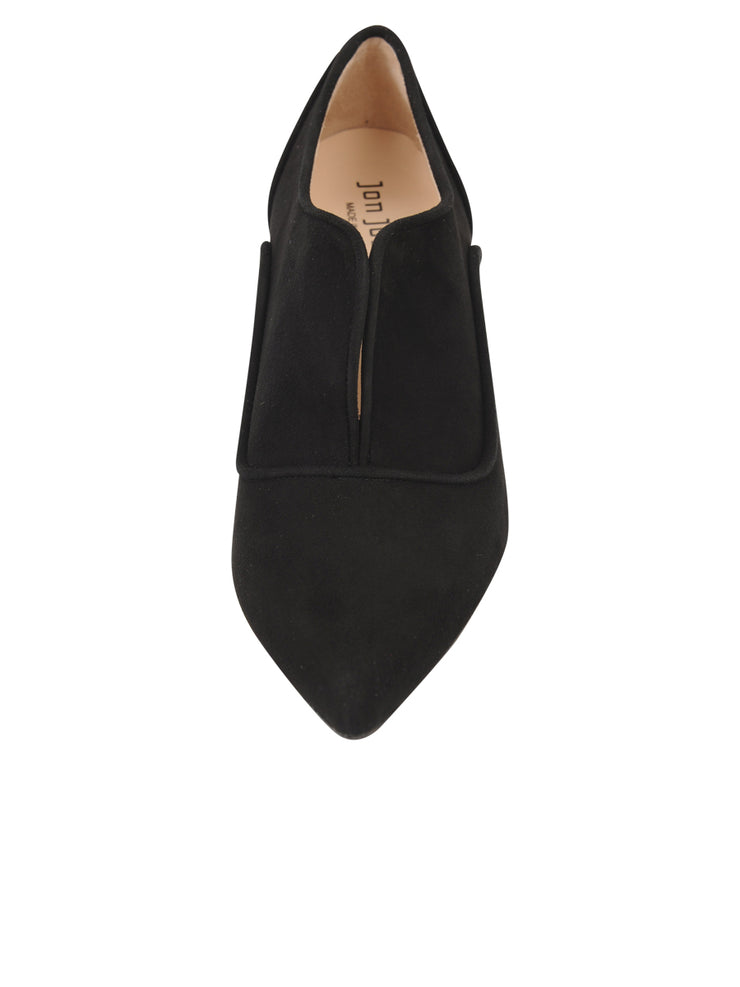Womens Black Suede Pump 4