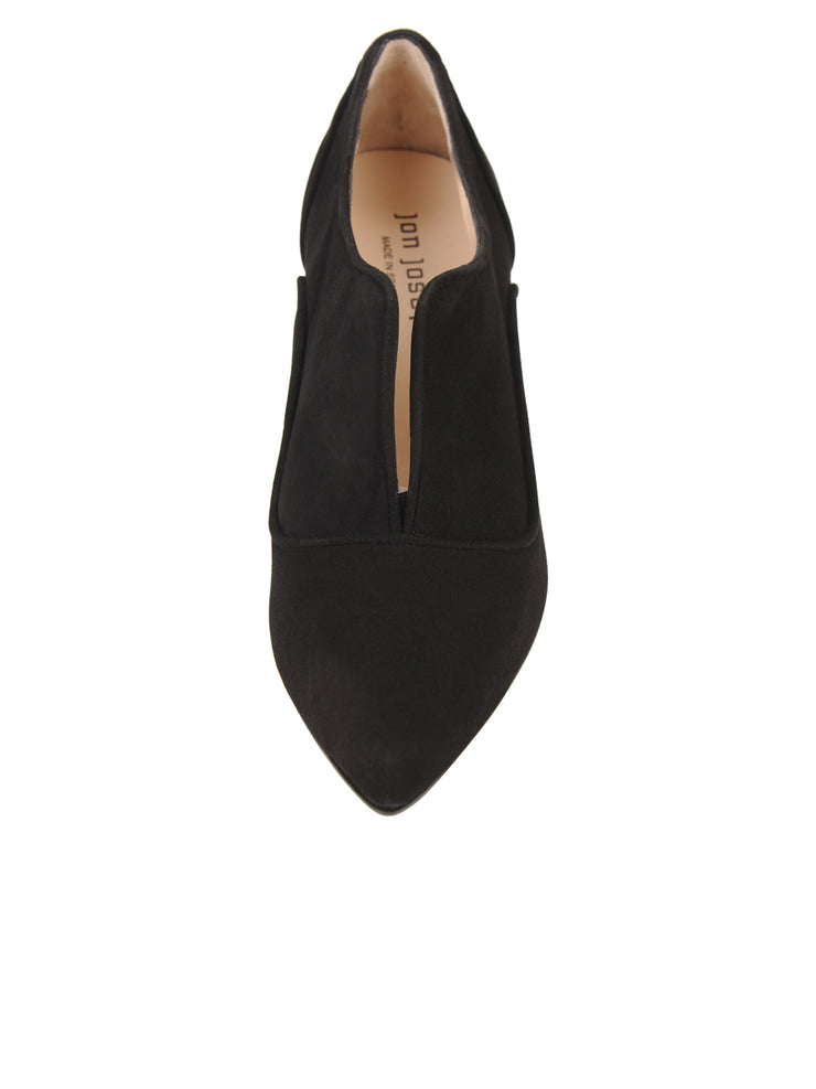 Womens Black Suede Pump 5