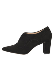 Womens Black Suede Pump 6
