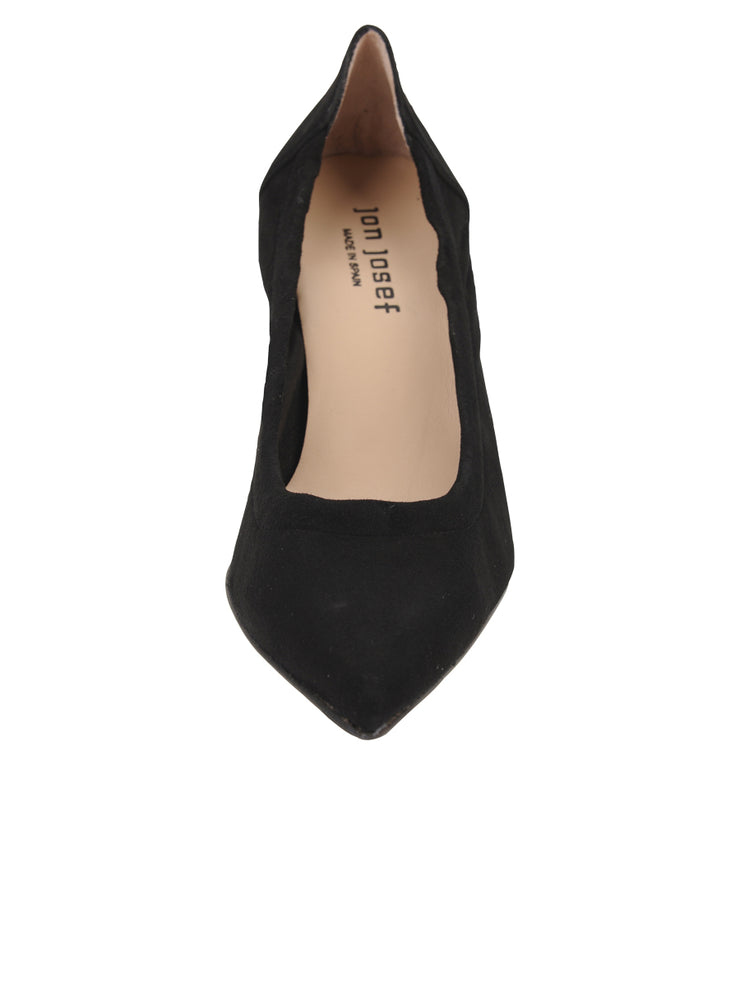 Womens Black Suede Party Rock And Roll Pump 4