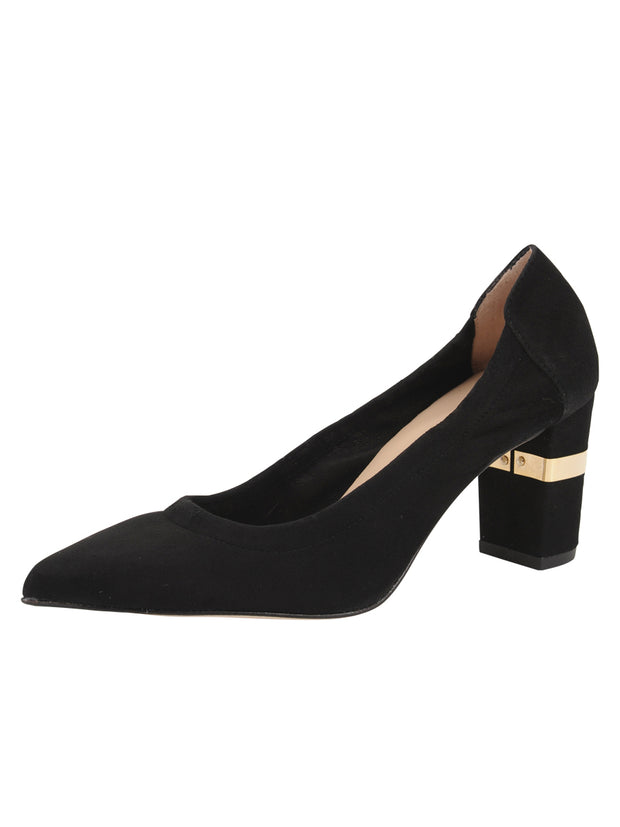Womens Black Suede Party Rock And Roll Pump