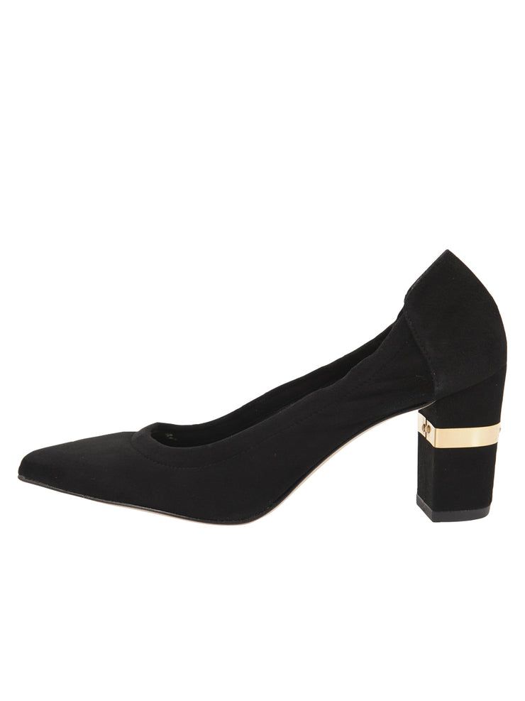 Womens Black Suede Party Rock And Roll Pump 6
