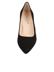 Womens Black Suede High Heel Pump 4