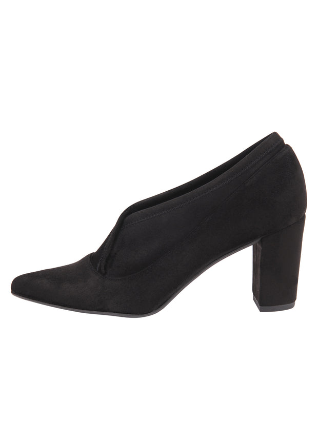 Black suede pointed toe bootie 7