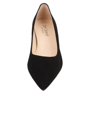 Womens Black Suede Kitten Heel 5