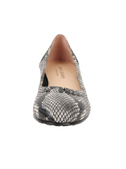 Womens Black/White Snake Maya Rock And Roll Flat 4