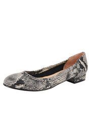 Womens Black/White Snake Maya Rock And Roll Flat