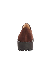 Womens Brown Suede  Lug Loafer 4