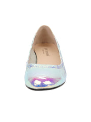 Womens Cioccolatino Argento Maya Rock And Roll Flat 5