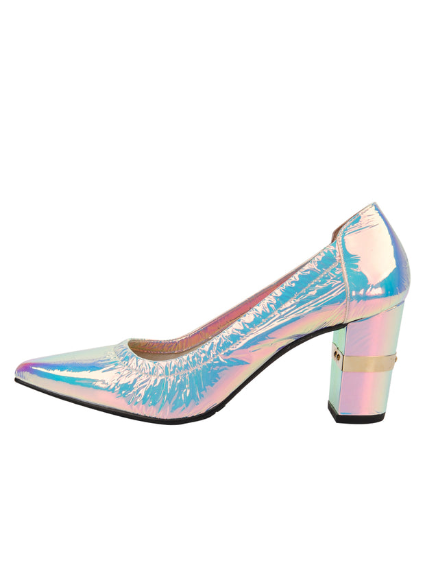 Womens Cioccolatino Argento Party Rock And Roll Pump 6