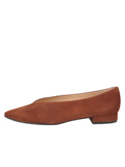 Womens Cuoio Suede Pointed Toe Flat 6