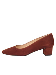 Womens Cuoio Suede BOSTON Low Block Heel 6