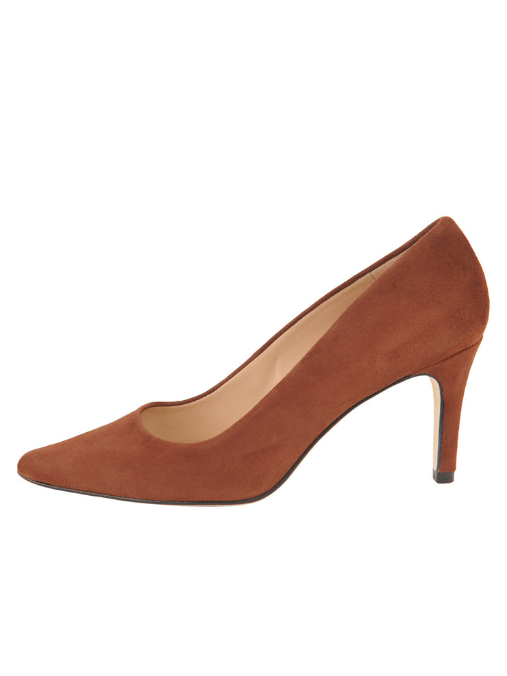 Womens Cuoio Suede High Heel Pump 6