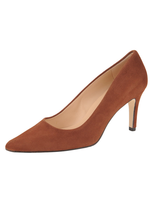 Womens Cuoio Suede High Heel Pump