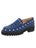 Womens Denim/Silver Studs Studded Lug Loafer