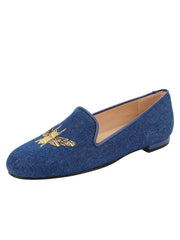 Womens Denim Gatsby Queen Bee Flats 4