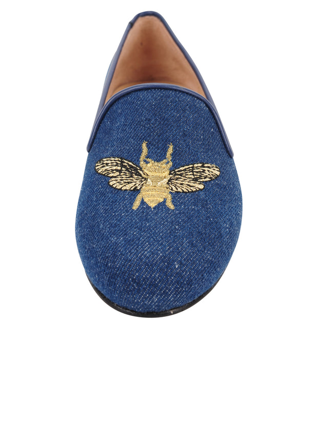Womens Denim Gatsby Queen Bee Flats 6