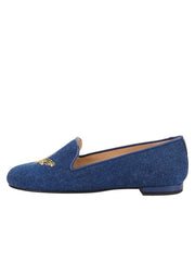 Womens Denim Gatsby Queen Bee Flats 7
