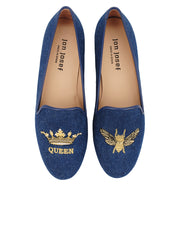 Womens Denim Gatsby Queen Bee Flats