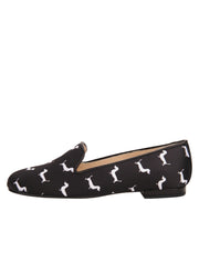 Womens Dogs Black Gatsby Dog Flat 6