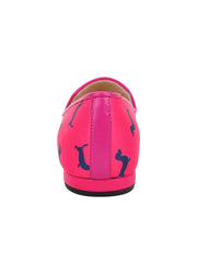 Womens Dogs Fucshia Gatsby Dog Flat 4