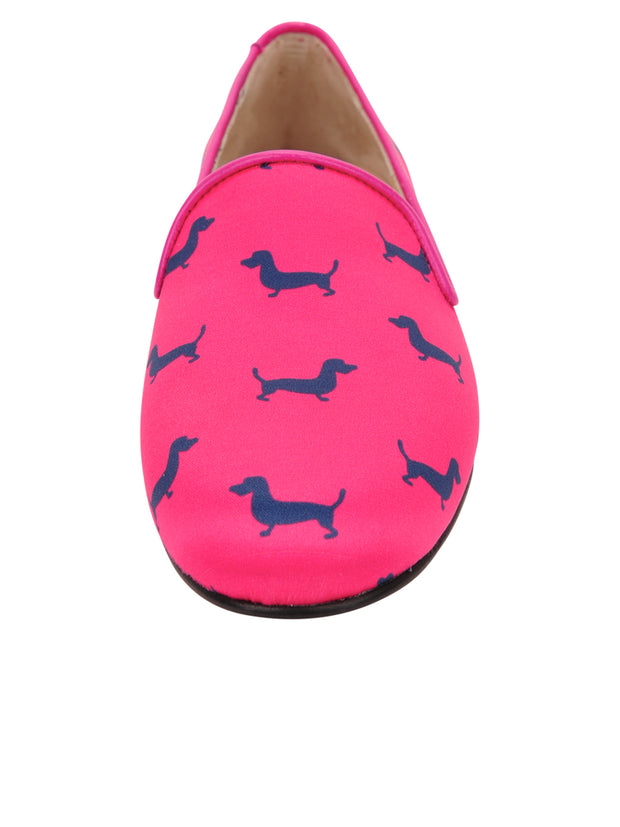 Womens Dogs Fucshia Gatsby Dog Flat 5