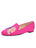 Womens Fucshia Linen Gatsby Love Flat 4 Alternate View