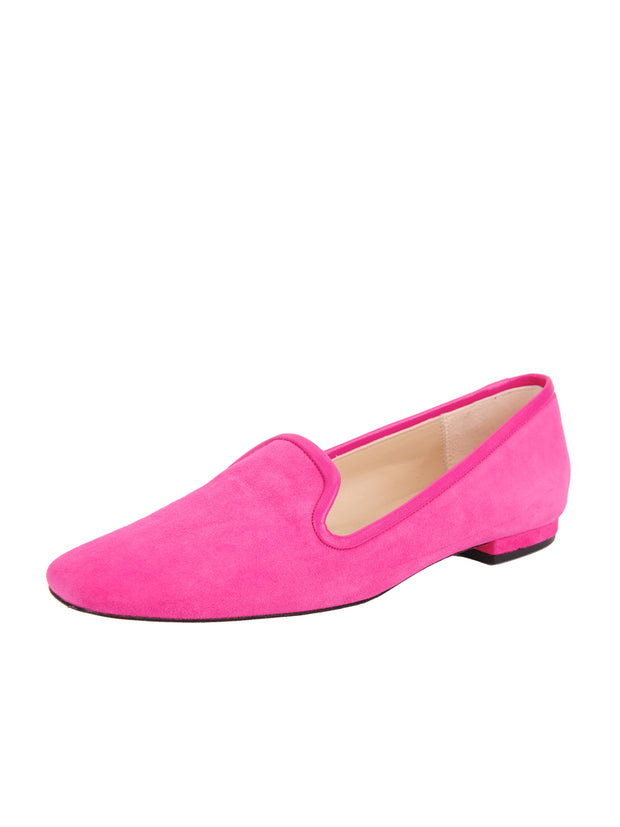 Womens Fuschia Suede Pluto Loafer