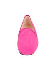 Womens Fuschia Suede Pluto Loafer 4
