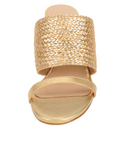 Womens Gold Combo Nolan Wedge Sandal 4