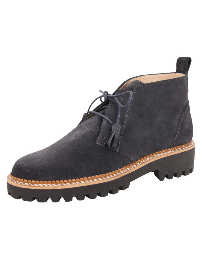 Womens Grey Suede Ankle Boot