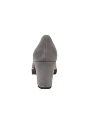 Womens Grey Suede Katie Lug Pump 2