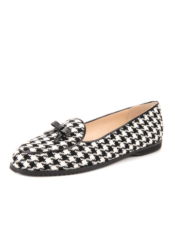 Womens Houndstooth Print Loafer