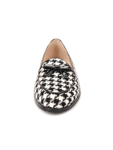 Womens Houndstooth Print Loafer 4 Alternate View