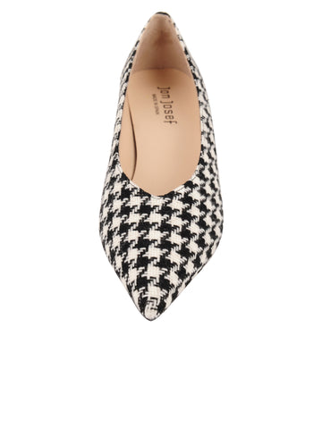 Womens Houndstooth Print Mid-Heel Pump 4 Alternate View