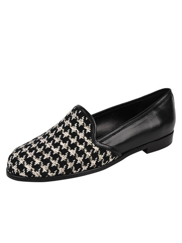 Womens Houndstooth Monica Flat