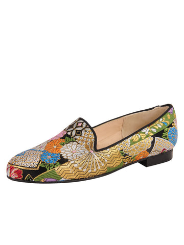 Womens Japan Smoking Slipper Flat