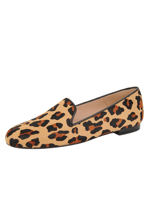 Womens Leopard Haircalf Leopard Flat