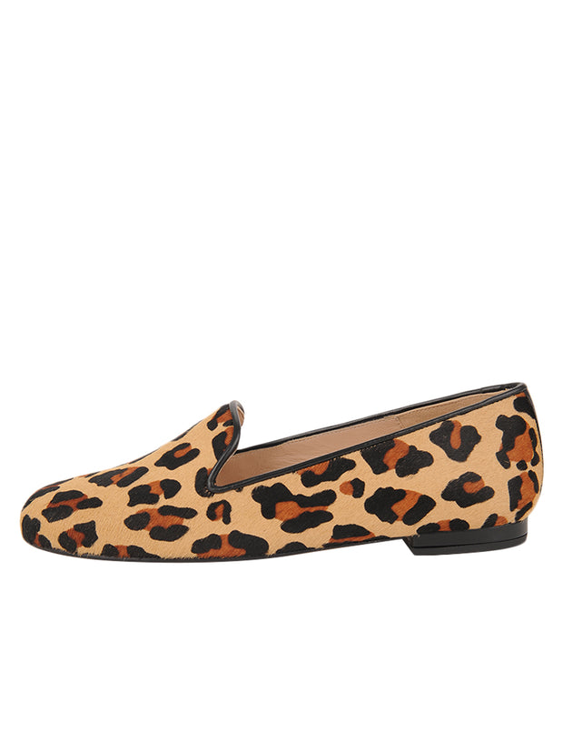 Womens Leopard Haircalf Leopard Flat 6