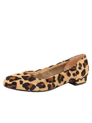 Womens Leopard Haircalf Maya Rock And Roll Flat