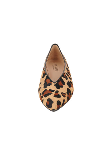 Womens Leopard Haircalf Pointed Toe Flat 4 Alternate View